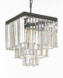furniture wonderful odeon glass fringe rectangular chandelier 7 good looking 18 502488