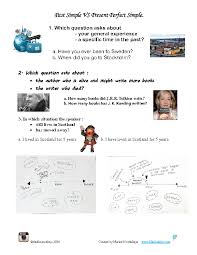 120 FREE Past Simple vs. Present Perfect Worksheets