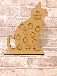Details About Mdf Wooden Cat Reward Chart Child Kids Toddlers Chart Childrens S268