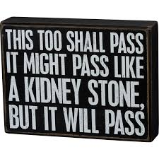 Box Sign This Too Shall Pass Box Signs Collection