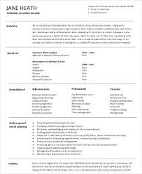 Personal Assistant Resume Personal Assistant Resume Objective