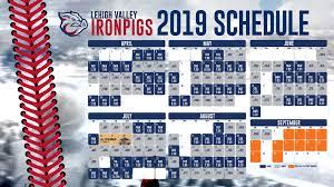 Ironpigs Announce 2019 Schedule Lehigh Valley Ironpigs News