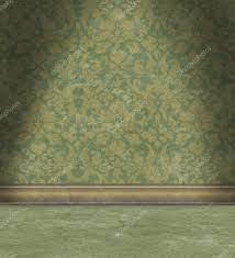 Faded Green Damask Wallpaper Royalty ...