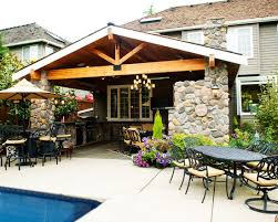 Covered Patio Designs With Fireplace Veranda Design Excellent Craftsman Inspiration