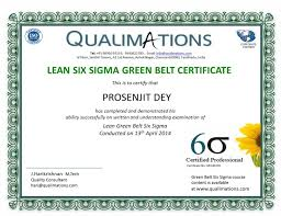 Belt Lean Six Sigma Green Belt Certification Lean Six Sigma