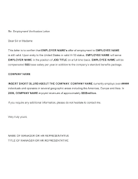 Sample Proof Of Employment Letter Free Letter Of Employment Template Letter Confirming Employment