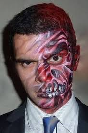 image result for two face painting