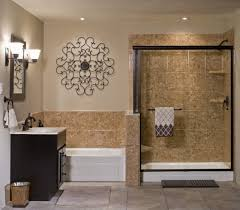 traditional bathroom remodel with separate shower bathtub