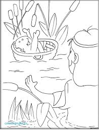 Baby Moses Coloring Page Rallytv Org Pages Free Basket Bible Photos