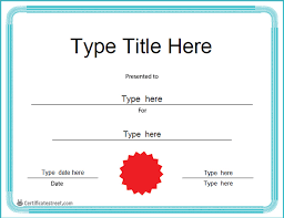 blank certificates blank certificates blank certificate with blue border