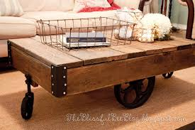 Industrial Factory Cart Coffee Table Factory Cart Table Diy Restoration Hardware Inspired The