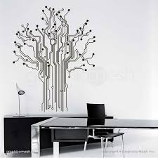 circuit board tree wall decal removable