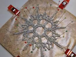 Crochet Snowflake Pattern Chart Tutorial Crocheted Snowflake Ornaments For Craftzine Com