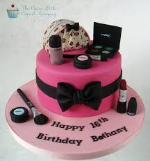 mac cosmetics cake by clever little cupcake pany