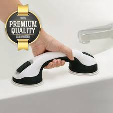 Eutuxia Shower Suction Cup Handle Grip. Balance Assist Grab Bar, Hand Rail  Support for