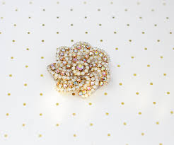 large pastel brooch vintage moonstone jewelry extra large rhinestone brooch