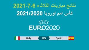 كأس امم اوروبا 2020 | نتائج مباريات الثلاثاء 6-7-2021 وتأهل ايطاليا الى  المباراة النهائية - YouTube