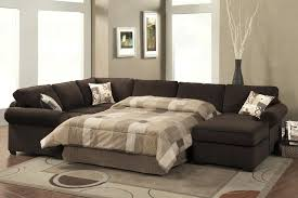 Sectional Sofas With Sleeper Bed Leather Sectional Sleeper Sofa
