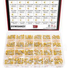 Dywishkey 24value 720pcs Dip Monolithic Multilayer Ceramic Chip Capacitors Assortment Kit 0 1uf 100nf Ceramic Capacitor Set