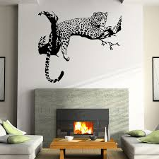 Large Leopard <b>Vinyl Wall</b> Sticker <b>Home</b> Decoration Animal <b>Wall</b> ...