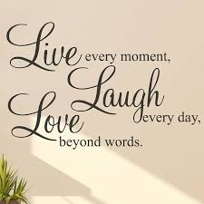 Live Laugh Love Quotes Enchanting Live Laugh Love' Wall Stickers Quotes Inspirational Zen Quotes