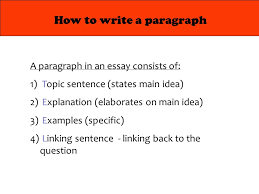 structure of an analytical essay introduction body conclusion  4 how to write a paragraph a paragraph in an essay consists of 1 topic sentence states main idea 2 explanation elaborates on main idea 3 examples