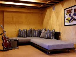 unfinished basement wall ideas nd but what we really need is more comfort especially if theres
