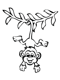 Monkey Coloring Pages Free Printable Monkeys Coloring Pages Free