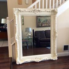 GORGEOUS ORNATE MIRROR Large White Mirror Shabby Chic Wall Mirror Nursery  Decor Ornate Furniture Home And