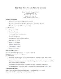 Medical Receptionist Resume Sample Classy Medical Unit Secretary Resume Sample Receptionist Examples And
