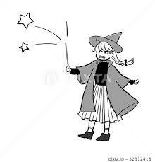 魔法使いの女の子のイラストのイラスト素材 32312418 Pixta