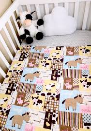 baby quilt farm animals baby quilts