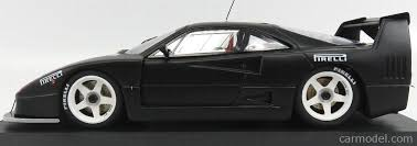 ferrari f40 lm black. mg-model fr118023 scale 1/18 ferrari f40 lm n 0 test monza italy ferrari lm black