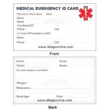 Personal Identification Card Template Innovanza Co