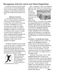 writing alive web applications 3 article sacagawea and the lewis and clark expedition page 2