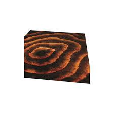 splendour deluxe allure brown orange rug