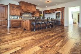 rustic hickory flooring hardwood wide plank knotty in kitchen with unfinished luxury vinyl p