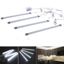 kitchen counter lighting fixtures. Amazon.com: Cefrank Set Of 4 LED Light Bar - Cool White Under Kitchen Cabinet Led Lamp Energy Saving Counter Lighting Strip Kit (Cool White): Home Fixtures