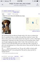 Humor To Of Said Get His Had Dogs Funny Craigslist Rid Girlfriend He Funny Dog
