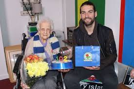 Blackburn rovers v wolverhampton wanderers at wembley. 102 Year Old Blackburn Rovers Fan Stunned After Star Player Charlie Mulgrew Pays Her A Surprise Visit For Her Birthday Mirror Online