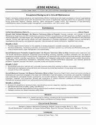 Aircraft Maintenance Engineer Resume Perfect Resume