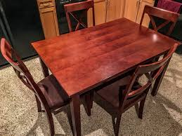The Kitchen Table Dallas Hamilton Spill Solid Wood Dining Kitchen Table W 4 Chairs For