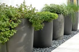 Black Gardening Planters Ideas