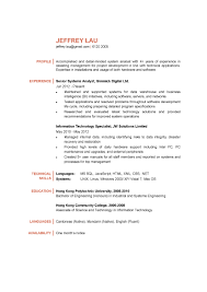 7 2015 Cv Template Data Analyst Resumes