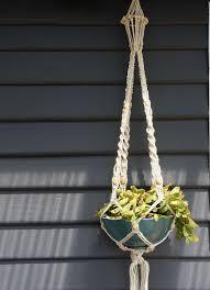 diy bohemian macrame plant hanger organic materials
