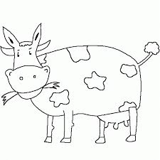 Small Picture Eating Grass Cow Coloring Pages Animal Coloring pages of