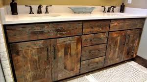 Wood Vanity Bathroom Reclaimed Wood Bathroom Vanity Home Design Decorating And