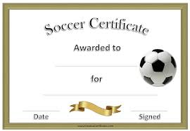 Free Soccer Certificate Templates Free Soccer Certificates That Can Be Customized And Printed