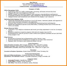 Human Resources Summary Of Qualifications Resume Sample Best Of 24 Skills For A Resume Example Phoenix Officeaz