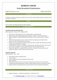 Pediatric Dental Charting Forms Dental Receptionist Resume Samples Qwikresume